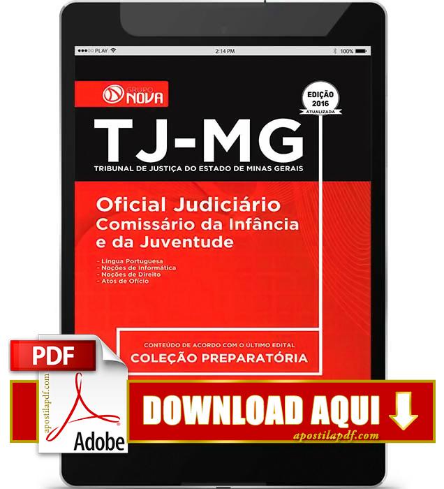 Apostila TJ MG 2016 Oficial Judiciário PDF Download