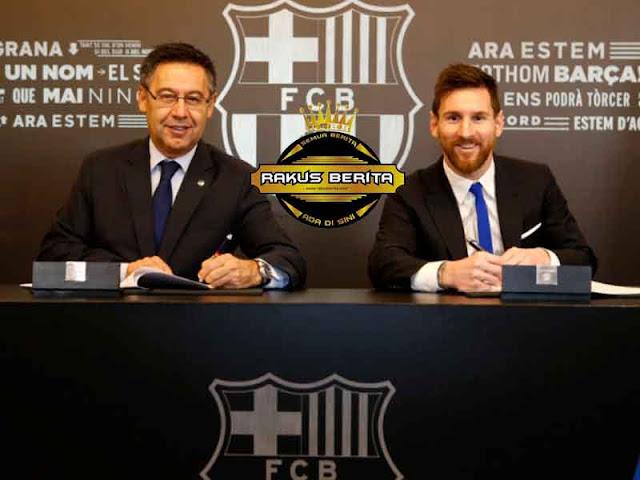 Lionel Messi Resmi Perpanjang Kontrak Di Barcelona