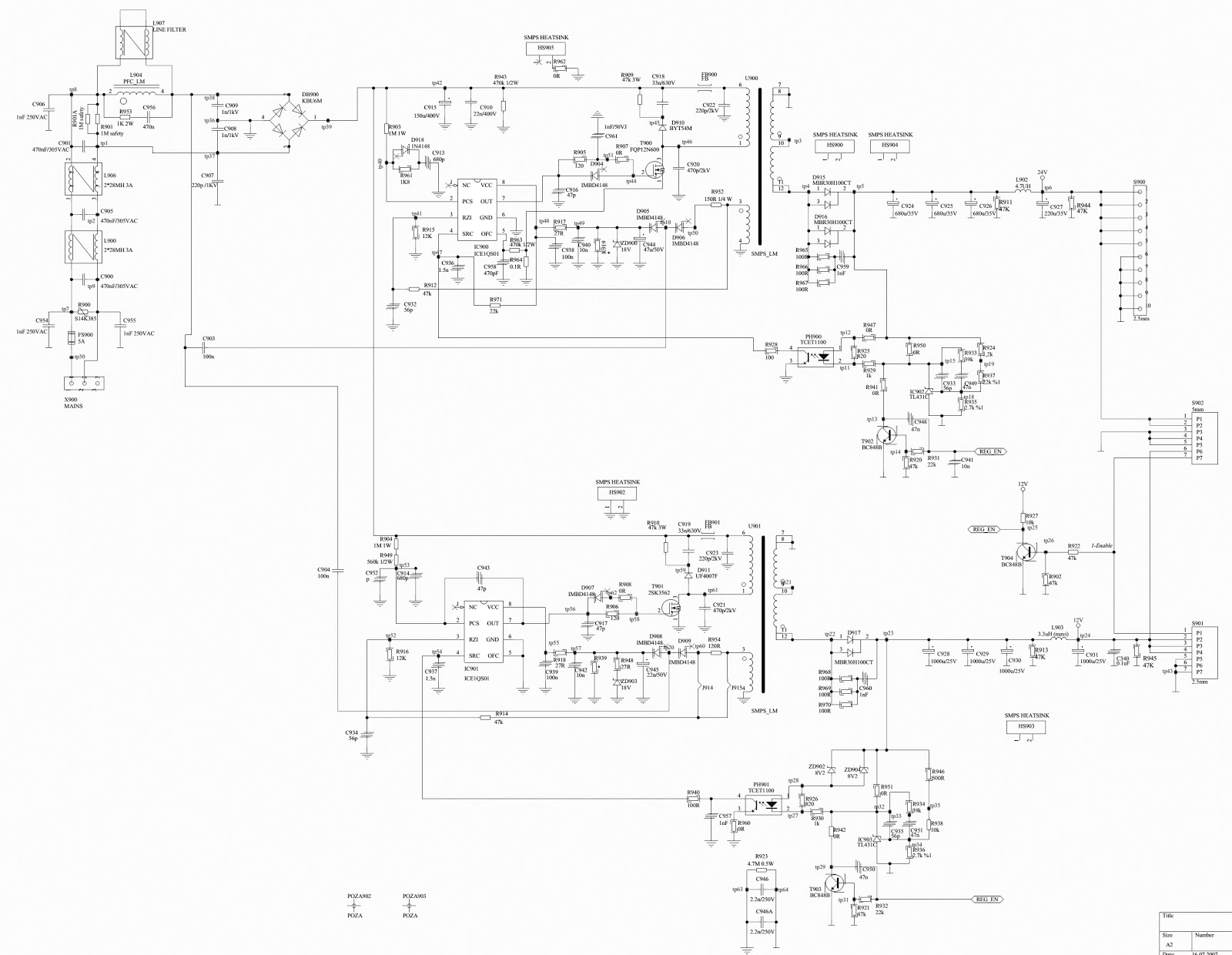 Beko Electric Wiring Diagram Diagrams Multiple Outlets Z1j194 11 And Dynex Lc22hv40 Smps Circuit Basic Electrical Light