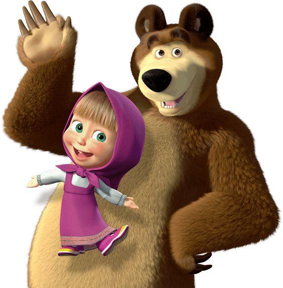 Gambar Animasi Masha dan Beruang
