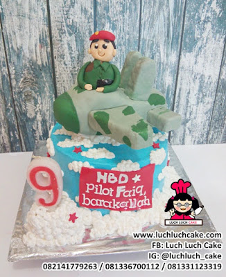 Kue Tart Pesawat TNI Angkatan Udara
