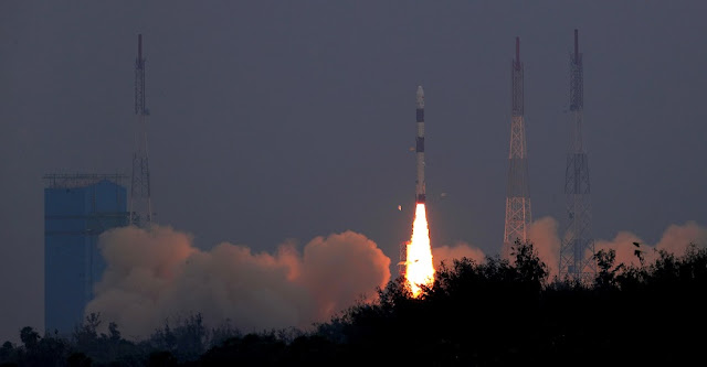 liftoff of PSLV-C43. Credit: ISRO