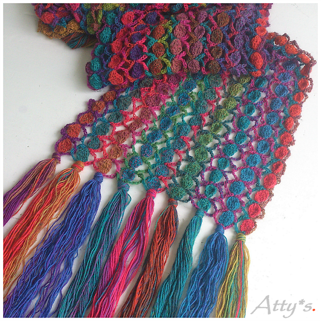Crochet Candy Scarf