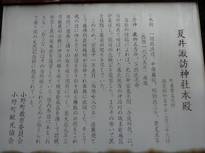 夏井諏訪神社 由来