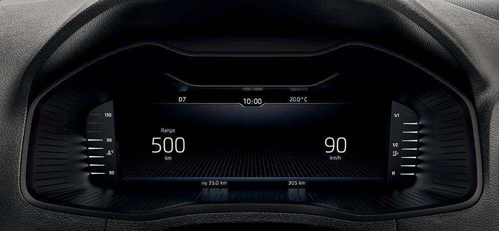 skoda karoq digital cockpit modalità ridotta