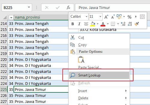 Smart Lookup Excel 2016