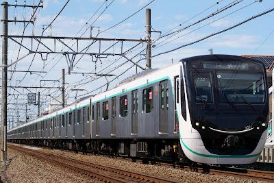 東武伊勢崎線で乗務員訓練を行う東急電鉄2020系
