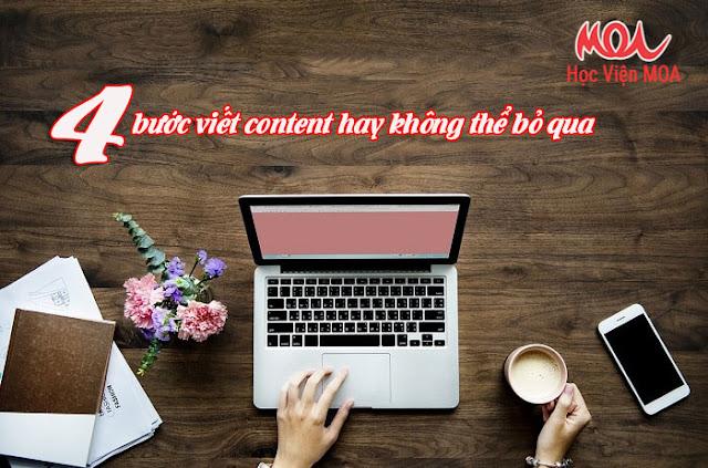 Chỉ với 4 bước viết content hay bạn có ngay khách hàng