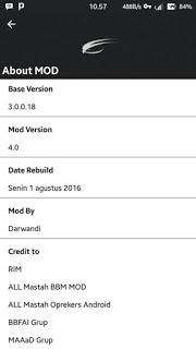 Guide BBM MOD Tema CUSTOMROM v3.0.0.18 APK Terbaru