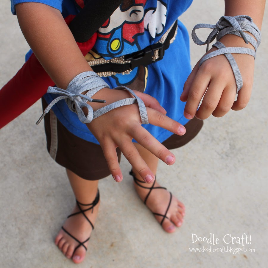 http://www.doodlecraftblog.com/2014/04/barefoot-ninja-sandals-for-little-boys.html