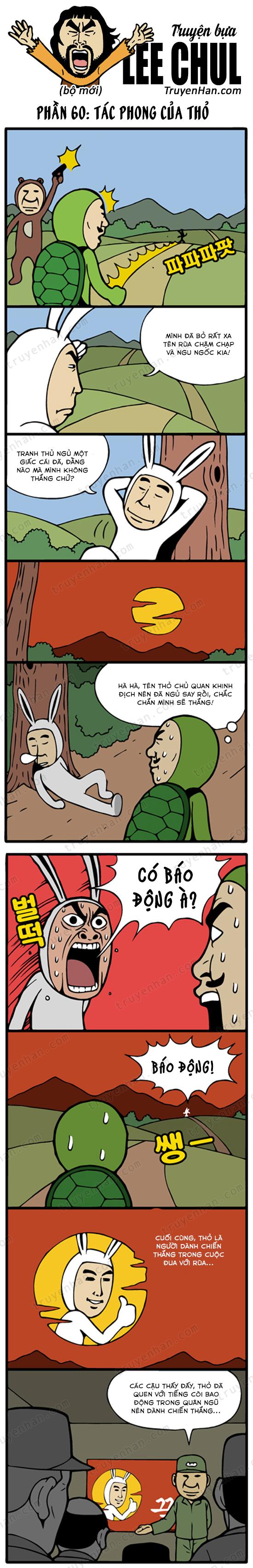TRUYỆN BỰA LEE CHUL phần 60: Tác phong của thỏ