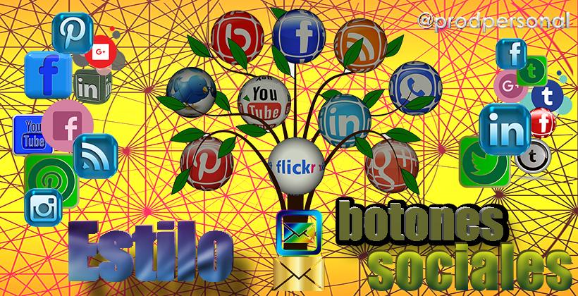 Aplicar estilo CSS a los botones sociales