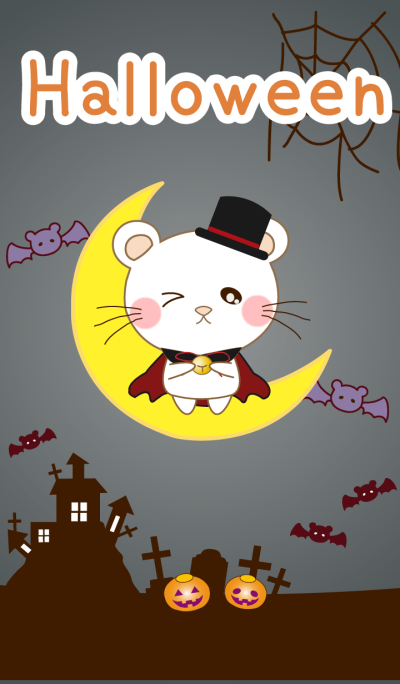 Panda cat, Pan'nya and halloween theme