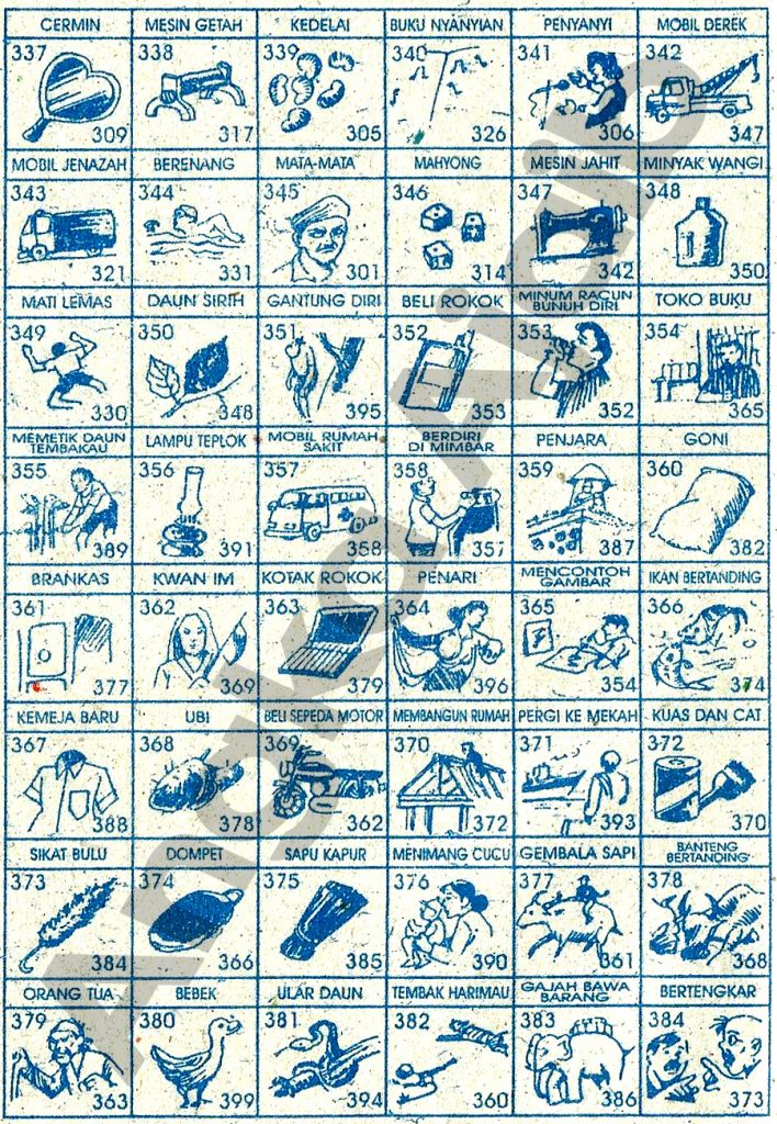 Tafsir Mimpi 3D Bergambar, Buku Mimpi 3D Bergambar, Buku Erek Erek 3D Lengkap  337 384