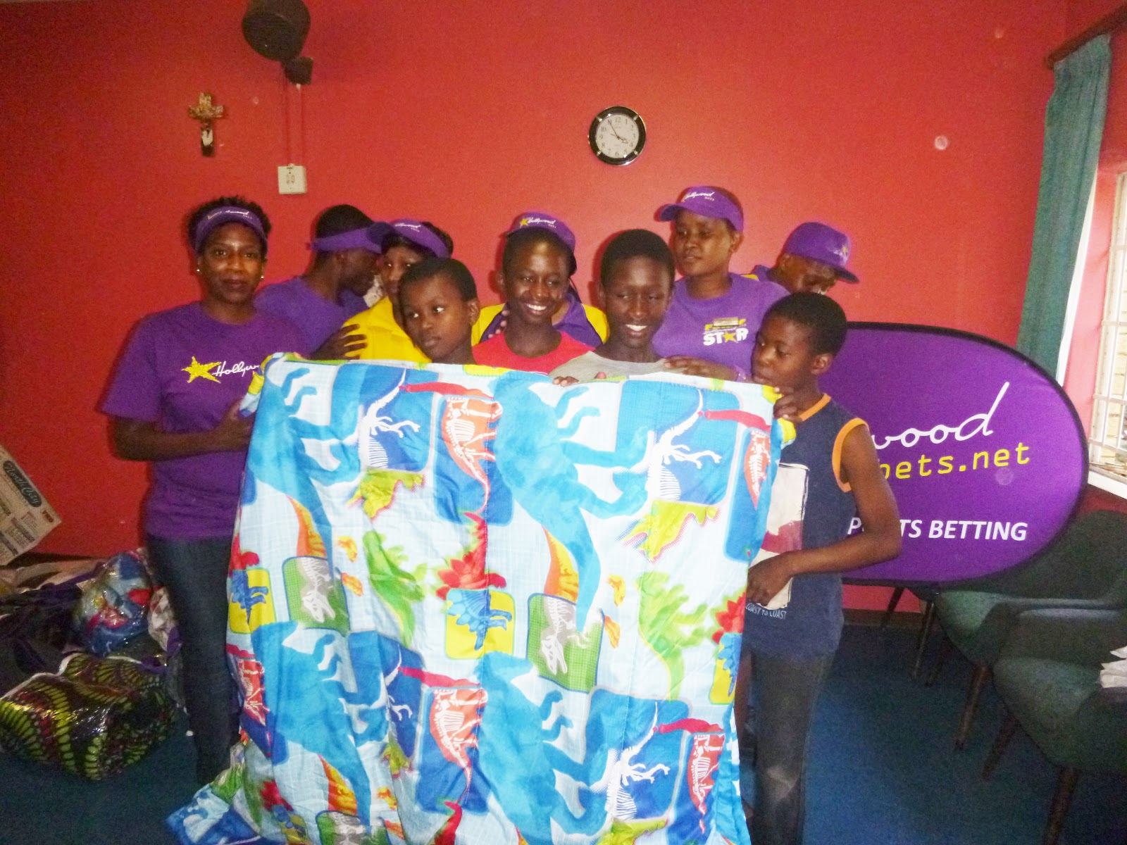 St Anthony's Child and Youth Care Centre staff members are thankful for a donation from Hollywoodbets Osizweni