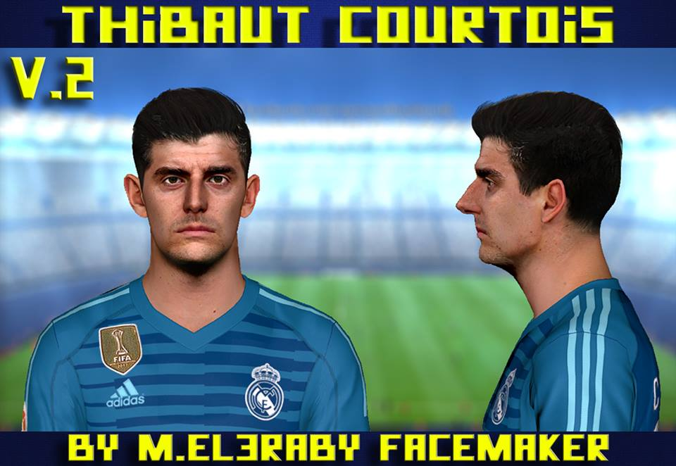 PES 2017 Thibaut Courtois Face V.2 by M.Elaraby Facemaker