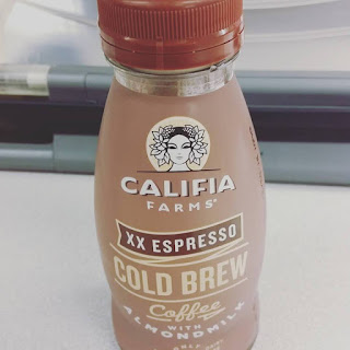 Java and Nut Juice…it's a winner. Califia Farm's Cold Brew Coffee with Almond Milk