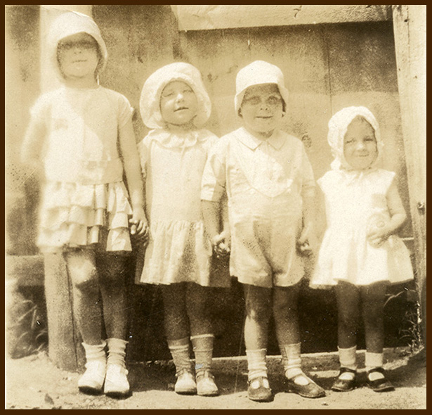My aunt with her brother and sisters, minus my mom, who wasn't born yet.