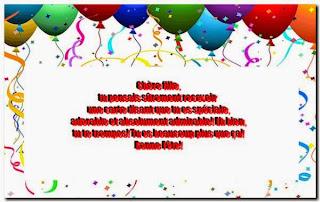 Poème bonne fête d'anniversaire