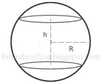 zona sferica formule