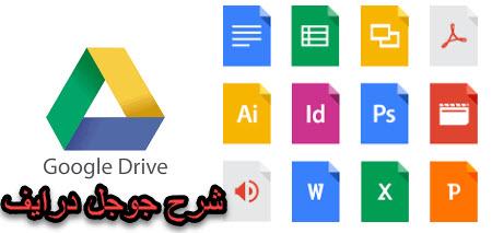 شرح كيفية استخدام موقع جوجل درايف Google Drive لتخزين ومشاركة