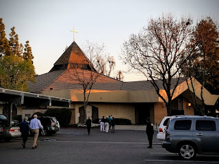 Hope Lutheran Church, Fresno, at sunset