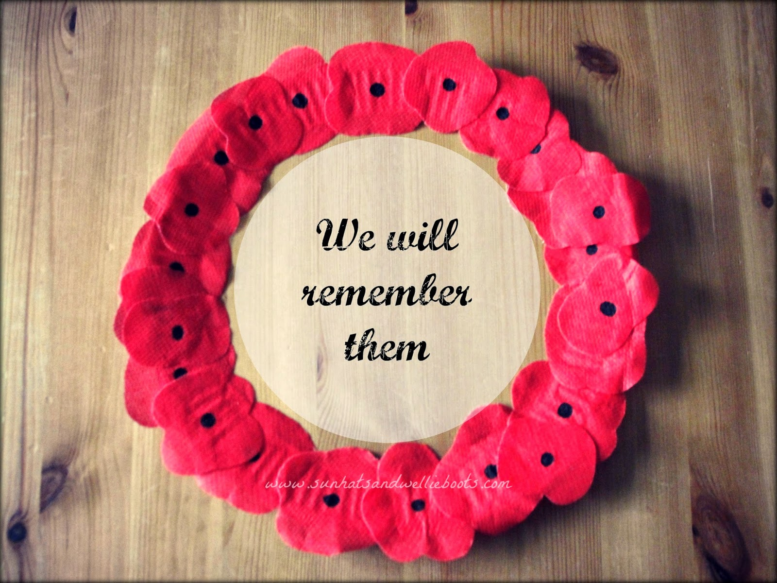 Sun Hats & Wellie Boots: Paper Plate Poppy Wreath for ...
