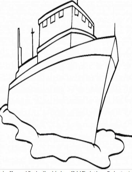 Sketsa Gambar Kapal Pesiar Perikanan Dan Kelautan
