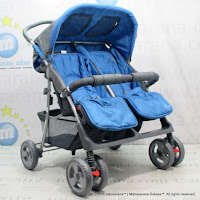 Junior PL Twin Buggy Baby Stroller Blue