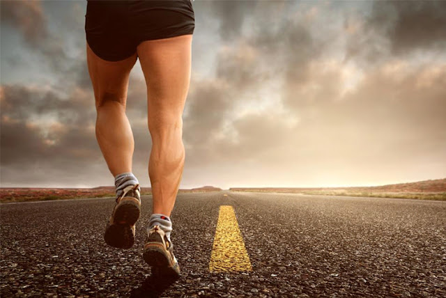 Fitness and nature benefits-man running on road-via beau-monde-organics