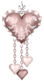 Free Printable Hearts with Hanging Hearts Clipart.