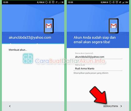 cara menambahkan akun yahoo di android