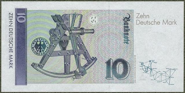 10 Deutsche Mark note old German currency