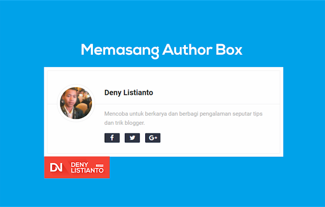 Memasang Author Box