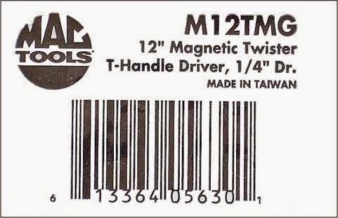 マックツールM12tmg商品ラベル