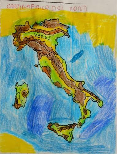 Cartina Fisica Dell Italia Per Bambini.Lozainetto La Geografia E La Cartine Geografiche