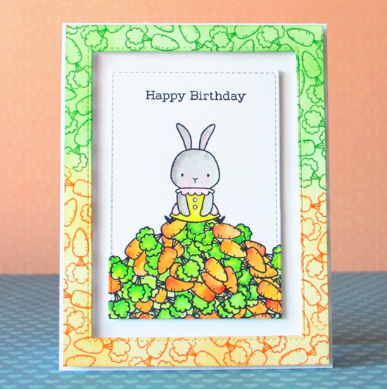 Birdie Brown Somebunny stamp set and Stitched Rectangle Frames Die-namics - Margaritka Pochekutova #mftstamps