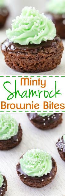 Shamrock Mint Brownies