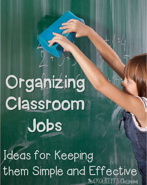 Classroom jobs, how to keep them simple, yet effective.  We want our students to have responsibilities in our classroom, but when we end up giving hundreds of reminders it becomes too much to manage.  Learn about a simple way to keep your classroom jobs effective.