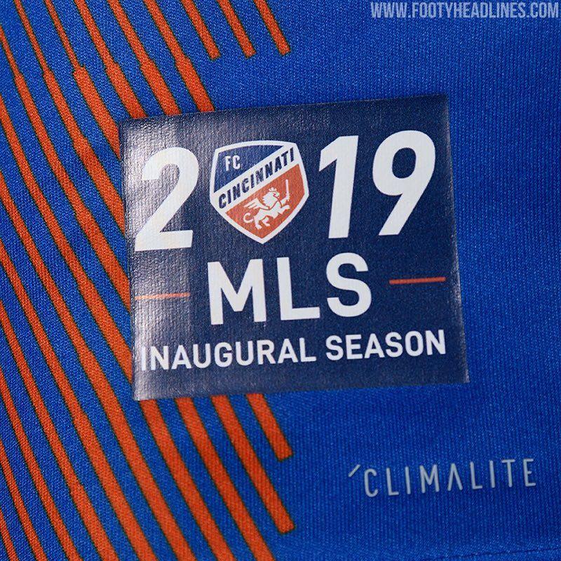 new arrival 6e669 b3410 FC Cincinnati 2019 Inaugural MLS Home & Away Kits Revealed ...