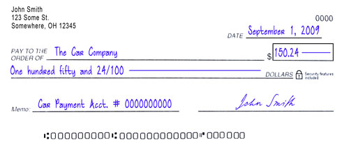 comment ecrire un cheque