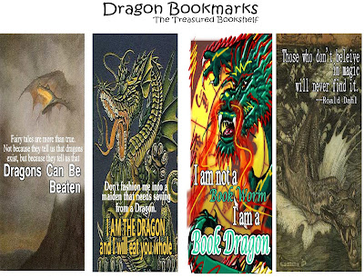 Celebrate your inner dragon with these printable bookmarks.  You'll find four dragon bookmarks to save your place and challenge anyone who tries to make you stop reading.