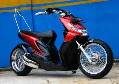 Modif Honda Beat FI Ganti Stang Low Style