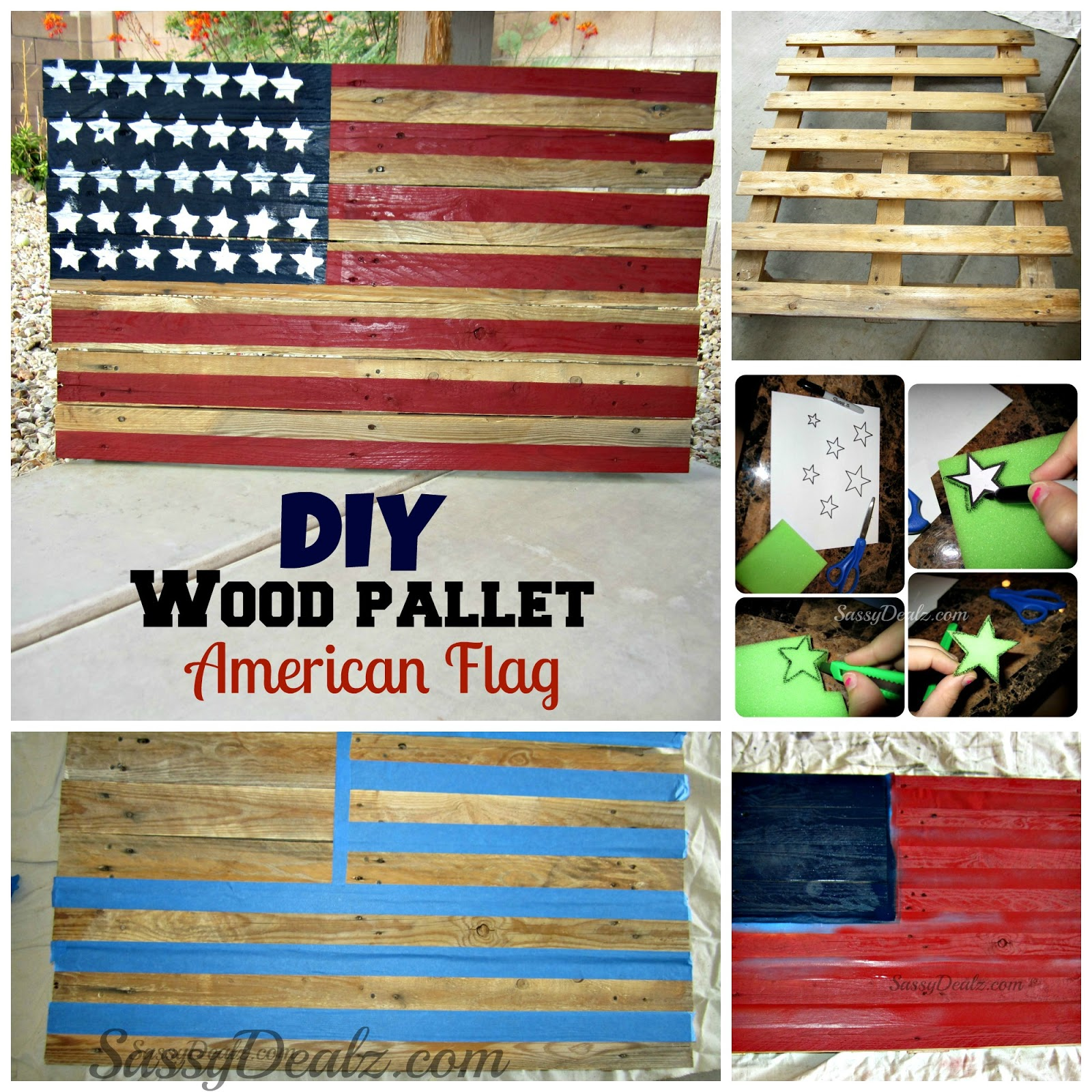 Diy How To Make An American Flag Out Of A Wood Pallet Step