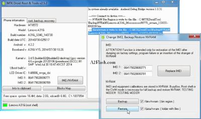Cara Menggunakan MTK Droid Tool Backup IMEI NVRAM