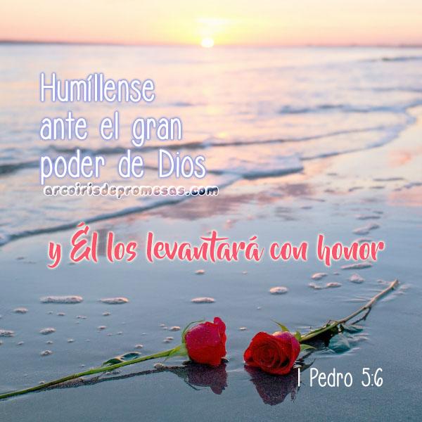 humillaos bajo la poderosa mano de dios reflexiones cristianas con imágenes arcoiris de promesas