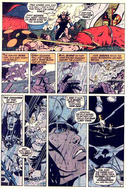 Conan the Barbarian v1 #3 marvel comic book page art by Barry Windsor Smith