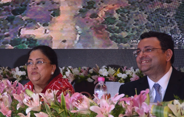 Mrs. Vasundhara Raje, Chief Minister of Rajasthan lays foundation stone for development projects of INR 2155 Crores in Rajasthan