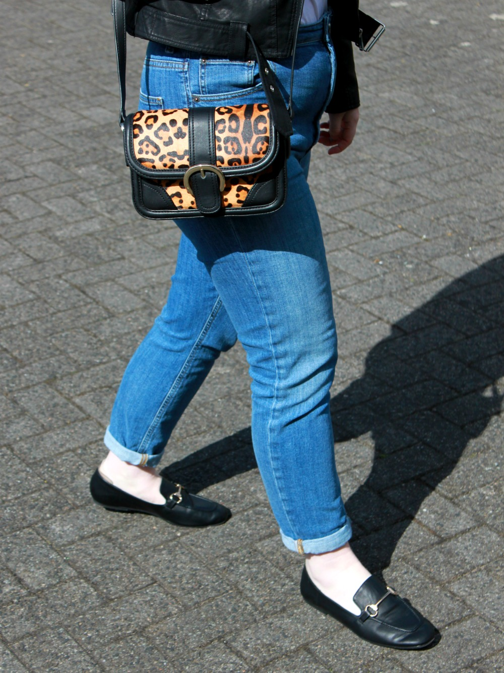 Leopard Print Bag and Loafers