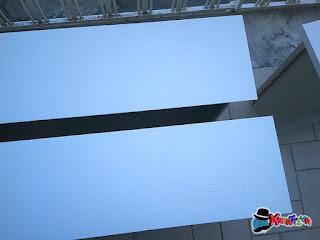 decora dei frontali delle cassetti con stencil